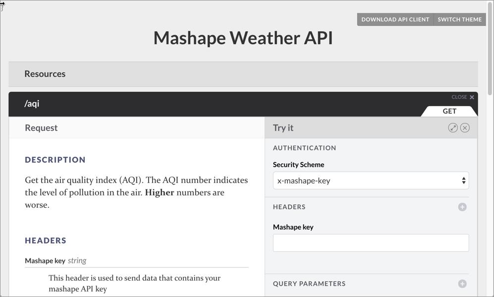 API documentation workshop